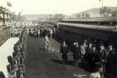 Prim Minster Adly Pasha and dignitaries attending the ceremony of inaugurating Aswan railway 1926