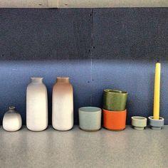 Shelf of ideas (at Heath Ceramics) Heath Tile, Heath Ceramics, Earthenware, Utensils, Tiles, Shelf, Pottery, Kitchen Products, Inspiration