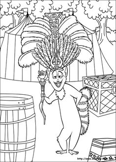 Madagascar Coloring Pages 24 Online Coloring Pages, Disney Coloring Pages, Coloring Book Pages, Printable Coloring Pages, Coloring Pages For Kids, Coloring Sheets, Adult Coloring, Madagascar Movie, Bujo Doodles