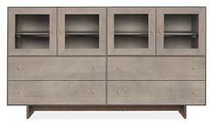 Hudson Modern Cabinet with Wood Base - Cabinets & Armoires - Modern Dining Room Furniture - Room & Board