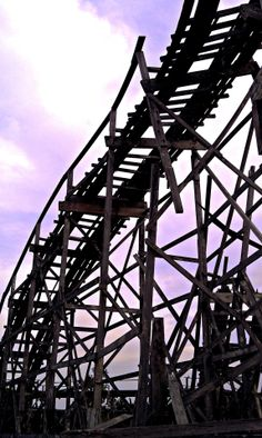 The remains of a roller coaster in abandoned Lincoln Park located in Dartmouth, MA