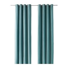 IKEA SANELA Curtains, 1 pair Light turquoise 140x250 cm The thick curtains darken the room and provide privacy by preventing people outside from seeing...