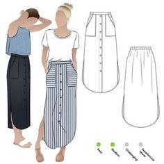 Indigo Maxi Skirt Sewing Pattern By Style Arc