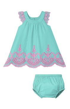 Primark - Turquoise Broderie Pant Set ss16