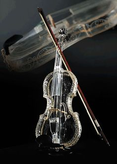 Glass violin. I totally want to try playing this!
