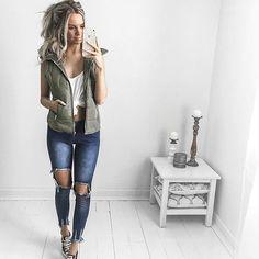 Casual Friday  @littlelace  Details: Jamie Vest Hastings Jeans