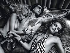 Tom Cruise, Abbey Lee Kershaw, and   Edita Vilkeviciute Get Wild in W  [May 2012]  #MarioSorrento