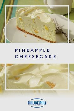 This no-bake cheesecake recipe combines sweet, fresh pineapple with smooth cream cheese to make for a delicious dessert. #ItMustBeThePhilly