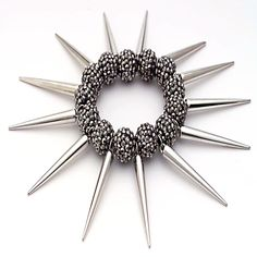 If you like a little edginess in your fashion, you will love the Crystal Stretch Spike Dangle Bracelet. This in-trend edgy stretch bracelet displays silver crystal balls surrounded by spiky dangles. DETAILS: http://www.lolafashionaccessories.com/products/Crystal-Stretch-Spike-Dangle-Bracelet.html #Spike #Dangle #Bracelet #Crystal #Edgy #Style #Fashion #LolaFashionAccessories #Baltimore #MD #Fashionista #Accessories #Divah #Silver #Black