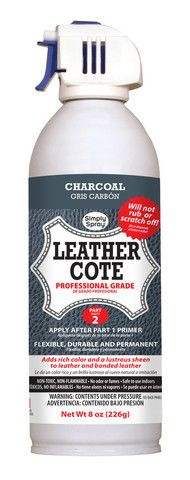 Charcoal Grey Leather Dye Cote Best Leather Sofa, Leather Car Seats, Leather Dye, Grey Leather, Leather Craft, Paint Leather, Leather Couches, Leather Repair, Leather Lounge