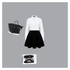 """""""Untitled #10"""" by emma-bacle-castellia on Polyvore featuring Hallhuber and adidas"""