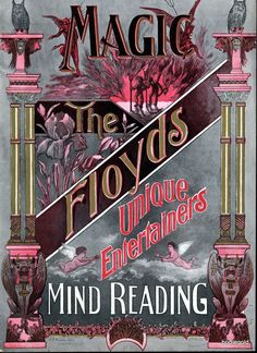 Antique Poster Art Photo ~ The Floyd's Magicians cir. 1920's ~ vintage decor | eBay