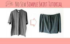 DIY Clothes DIY Refashion DIY TrashN2Tees No Sew Simple Skirt