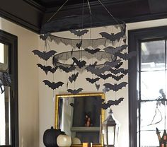 Bat Chandelier | Pottery Barn Kids (i could totally make this)