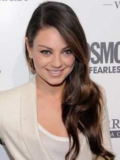 Hair color 2012: The 9 best brunette hair color shades #MilaKunis