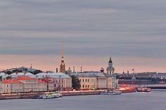 Saint-Petersburg (Russia)/ Санкт-Петербург. Университетская набережная.