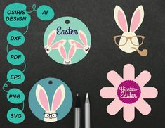 Excited to share the latest addition to my shop: Easter svg . Girls Easter Dresses, Easter Cross, Easter Wreaths, Easter Decor, Easter Bunny, Scrapbook Pages, Rabbit, Charms, Stationery