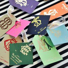 Signature Monogram Gift Tags / Emily McCarthy