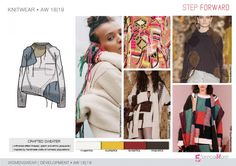 FW 208-19 Trend forecast: CRAFTED SWEATER, patch and ethnic jacquards, unfinished effect, inspired by handmade crafts of nomadic populations, development designs by 5forecaStore Fashion trend forecasting.