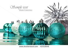 turquoise christmas ornaments - Google Search#