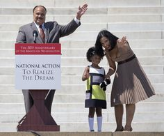 MARTIN LUTHER KING III STIRS UP RACIST VIEWS AT THE 50TH ANNIVERSARY OF HIS FATHERS MARCH ON WASHINGTON. SOMETHING HIS FATHER FOUGHT AGAINST.