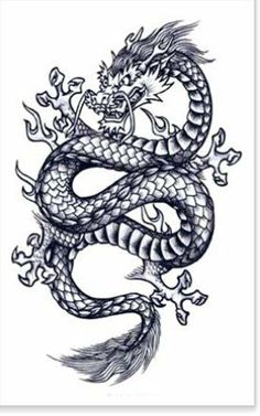 de dragon tattoo de dragon tribal symbolique du dragon tattoo body art pinterest. Black Bedroom Furniture Sets. Home Design Ideas