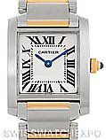 Cartier Tank Francaise Small Steel 18k Gold Watch W51007Q4