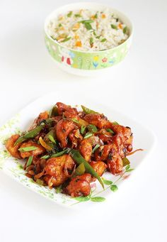 LUNCH / DINNER: chilli chicken recipe dry indian Need to sub put Corn Flour