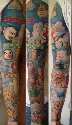 Super Mario sleeve by Jarrett Spaeth