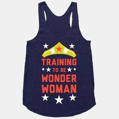 23 More Workout Tanks To Not Work Out In.I would still wear this Wonder Woman tank while working out! Workout Attire, Workout Wear, Workout Outfits, Fitness Motivation, Triathlon Motivation, T Shirt Sport, Muscle Shirts, Culottes, Workout Tanks