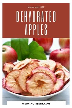 How to make dehydrated apple chips in dehydrator. Dehydrated apples make a healthy snack!  Make slices or rings apple chips in dehydrator. This is an easy recipe for apple chips with cinnamon or without. Learn how to make home made dried apple chips and how to store them. #apples #dehydrator Dried Apple Chips, Cinnamon Apple Chips, Healthy Cooking, Healthy Snacks, Healthy Recipes, Dehydrated Apples, Whole Food Recipes, Snack Recipes, Nutritious Meals