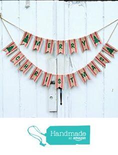 Rustic Merry Christmas Burlap Banner from Life Scooped https://www.amazon.com/dp/B01L7HCSFE/ref=hnd_sw_r_pi_dp_tAoaybEF5X0VT #handmadeatamazon