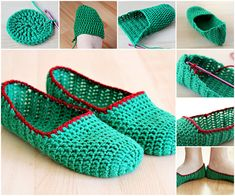 Creative DIY Simple Crochet Slippers | iCreativeIdeas.com Follow Us on Facebook --> https://www.facebook.com/iCreativeIdeas
