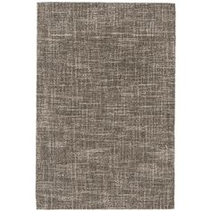 In a gorgeously deep grey and subtle crisscross sketched graphic, this durable micro-hooked wool rug is a solid foundation for both neutral and bright décor styles.
