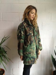 Vintage Military Camouflage Coat