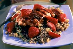Driscoll's Grilled Chicken Breasts with Strawberry Red Wine Balsamic Sauce www.driscolls.com