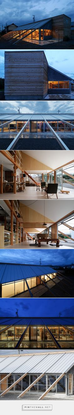 series of timber beams anchors longhouse residence in suzaka - created via http://pinthemall.net