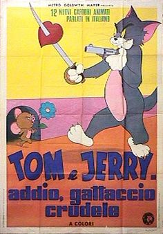 Amazing Tom /& Jerry MOUSE poster scene montage signed