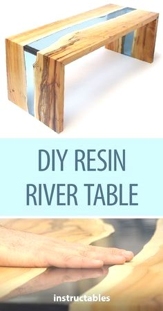 DIY resin river table with clear epoxy casting resin and wood # woodworking . - Holzarbeiten - DIY resin river table with clear epoxy casting resin and wood # woodworking … – # - Fine Woodworking, Woodworking Patterns, Easy Woodworking Projects, Popular Woodworking, Woodworking Furniture, Diy Wood Projects, Woodworking Machinery, Woodworking Classes, Woodworking Workbench