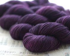 Plumeria - Muscadine Sock by Springtree Road Hand-dyed Yarn