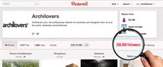 We've reached 200,000 followers on Pinterest!    #architecture #design #goal #followers
