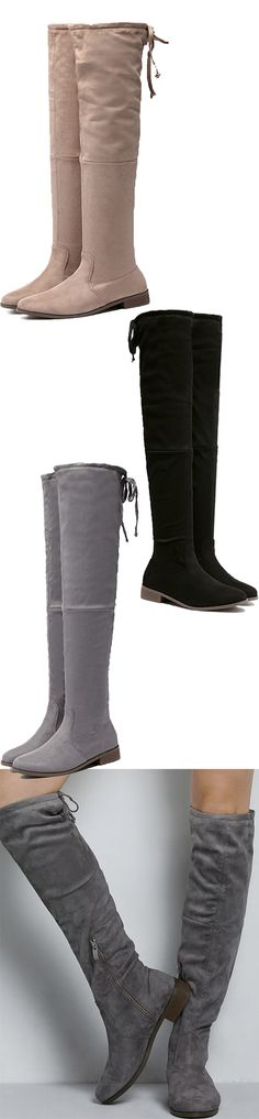 Simple design style boots must be the essential piece in fall. Three colors for you to choose from. Come to mynystyle.com, for more details and styles.