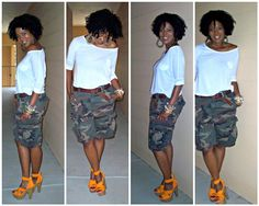 fashion nette-work: In The Fashionista's Closet: Expectancy Camo Fashion, Curvy Girl Fashion, Black Women Fashion, Plus Size Fashion, Fashion Outfits, Womens Fashion, Camouflage Fashion, Camo Outfits, Mode Outfits