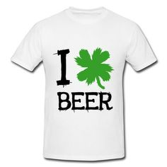 I Clover Beer Short Sleeve T-shirts on Sale-Holidays & Occasions T-shirts and More than 80 thousands of design ideas online,Find t-shirt and easily custom your own t-shirts at http://hicustom.net .No Minimums, and Free Shipping.