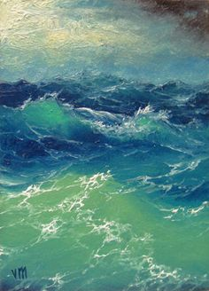 "364 - ""Black Sea in the Storm"", 16""x 20""  Gallery Wrap Canvas Giclee print"