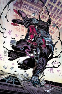Marvel Comics Spider Man and Venom ✨ Marvel 616, Marvel Comics, Venom Comics, Marvel Venom, Marvel Heroes, Captain Marvel, Captain America, Comic Book Characters, Marvel Characters