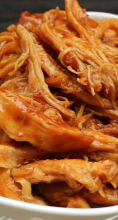 Best Ever Sweet Barbecue Chicken Recipe ~ an easy crock pot recipe, that slowly bakes, leaving your chicken moist and tender.  <3