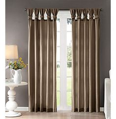 Madison Park® Emilia Twist Tab Curtain Panel (DETAILS AT TOP)