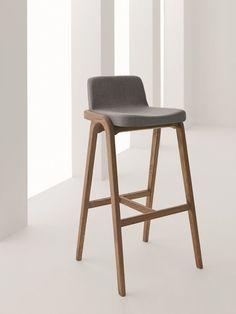 Wooden counter stool with footrest Decanter Collection by Passoni Nature