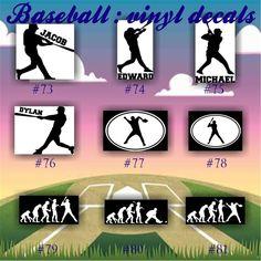 BASEBALL Vinyl Decals Vinyl Sticker Custom Baseball - Team window decals personalized